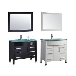MTD Vanities Figi 36-inch Single Sink Bathroom Vanity Set with Mirror and Faucet
