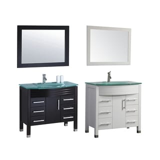 MTD Vanities Figi 36 Inch Single Sink Bathroom Vanity Set With Mirror And  Faucet