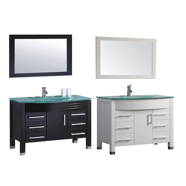 Mtd vanities figi 48 inch single sink bathroom vanity set for 48 inch mirrored bathroom vanity