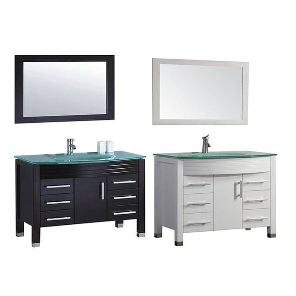 Shop mtd vanities figi 48 inch single sink bathroom vanity - 48 in single sink bathroom vanity ...