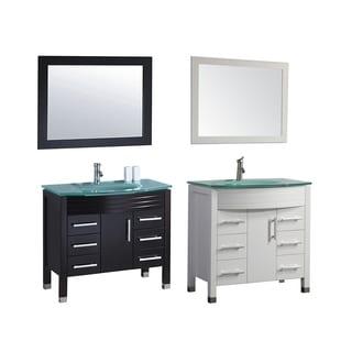 MTD Vanities Figi 48-inch Single Sink Bathroom Vanity Set with Mirror and Faucet
