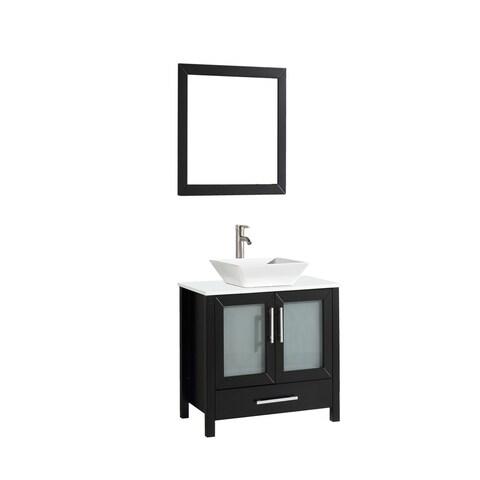 Jordan 30-inch Single Sink Bathroom Vanity Set with Mirror and Faucet
