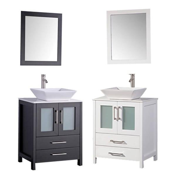 MTD Vanities Jordan 30 Inch Single Sink Bathroom Vanity Set With Mirror And  Faucet