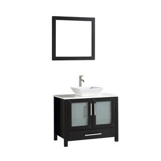 MTD Vanities Jordan 36-inch Single Sink Bathroom Vanity Set with Mirror and Faucet