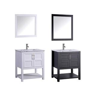 MTD Vanities Norway 24-inch Single Sink Bathroom Vanity Set with Mirror and Faucet