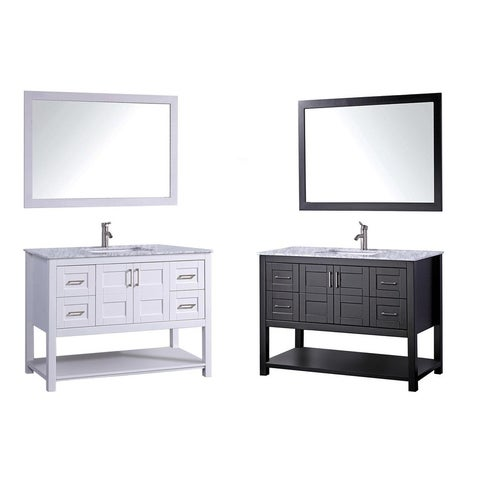 MTD Vanities Norway 48-inch Single Sink Bathroom Vanity Set with Mirror and Faucet