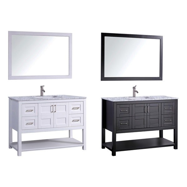 Shop mtd vanities norway 48 inch single sink bathroom for 48 inch mirrored bathroom vanity