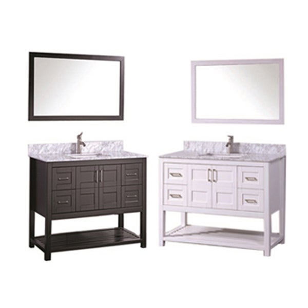Mtd vanities norway 48 inch single sink bathroom vanity for 48 inch mirrored bathroom vanity