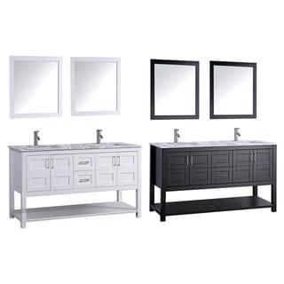 MTD Vanities Norway 60-inch Double Sink Bathroom Vanity Set