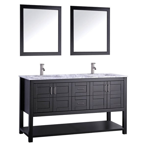 Shop Norway 72-inch Double Sink Bathroom Vanity Set - On ...