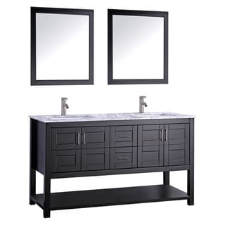 MTD Vanities Norway 72-inch Double Sink Bathroom Vanity Set with Mirror and Faucet
