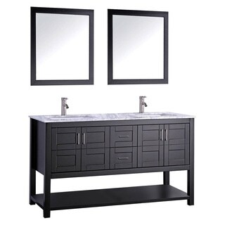 MTD Vanities Norway 72-inch Double Sink Bathroom Vanity Set with Mirror and Faucet