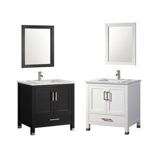 MTD Vanities Ricca 24-inch Single Sink Bathroom Vanity Set with Mirror and Faucet