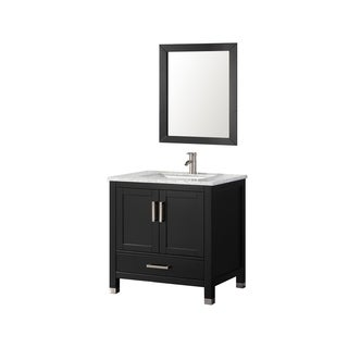 MTD Vanities Ricca 30-inch Single Sink Bathroom Vanity Set with Mirror and Faucet
