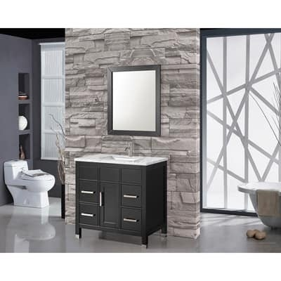 Shop Mtd Vanities Ricca 36 Inch Single Sink Bathroom Vanity Set With