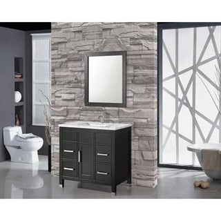 MTD Vanities Ricca 36-inch Single Sink Bathroom Vanity Set with Mirror and Faucet