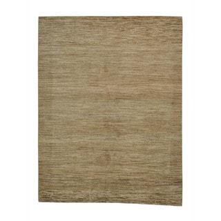 Handmade Oriental Stripped Gabbeh Natural Colors Rug (8' x 10'5)