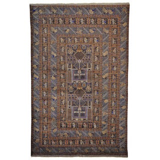 Handmade Baluch Oriental Tribal Design Rug (6'10 x 10'6)
