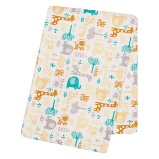Trend Lab Lullaby Zoo Deluxe Flannel Swaddle Blanket