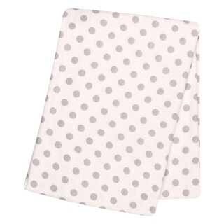 Trend Lab Grey Dot Deluxe Flannel Swaddle Blanket