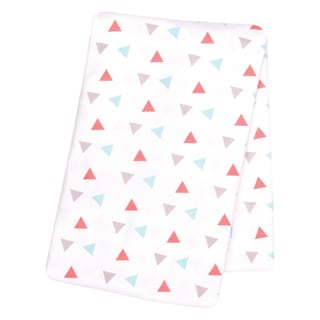 Trend Lab Coral Triangles Deluxe Flannel Swaddle Blanket