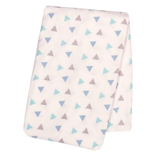 Trend Lab Mint Triangles Deluxe Flannel Swaddle Blanket