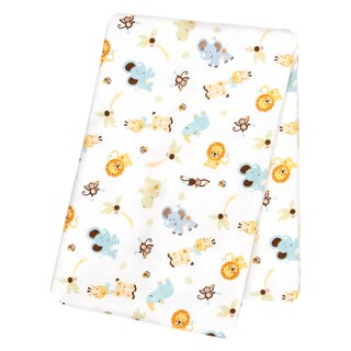 Link to Trend Lab Jungle Friends Deluxe Flannel Swaddle Blanket Similar Items in Baby Blankets