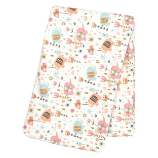 Trend Lab Playful Elephants Deluxe Flannel Swaddle Blanket