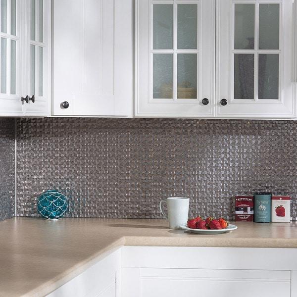 Tin Backsplash For Kitchen: Shop Fasade Terrain Galvanized Steel 18 In. X 24 In