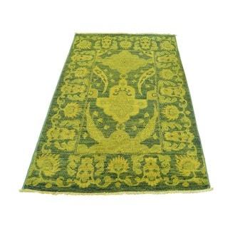 Handmade Overdyed Peshawar Wool Oriental Rug (3'2 x 5'1)