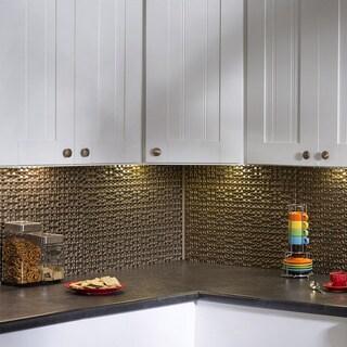 Fasade Terrain Argent Bronze 18 In X 24 In Backsplash Panel