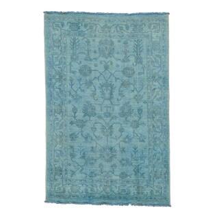 Handmade Overdyed Peshawar Oriental Rug (4'1 x 6'3)