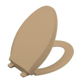Kohler Grip-Tight Cachet Q3 Elongated Closed-front Toilet Seat in Mexican Sand