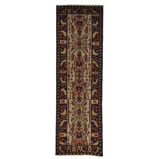 Handmade Runner Tribal Design Afghan Baluch Oriental Rug (3' x 9'5)