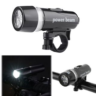 Insten Bike Bicycle Cycling 5 LED Front Head Light Lamp Headlight Torch With Mount