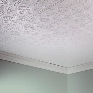 Fasade Traditional Style 2 Matte White X 4 Glue Up Ceiling