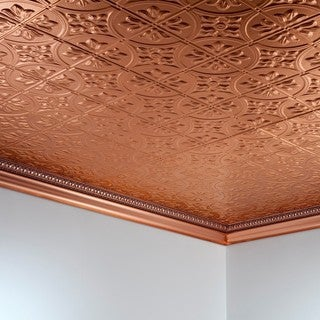 fasade traditional style 2 polished copper 2 ft x 4 ft glue