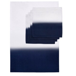 Ombre Dip Dye Tablecloth and Napkin Set