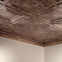 Fasade Traditional Style #3 Bermuda Bronze 2 ft. x 4 ft. Glue-up Ceiling Tile