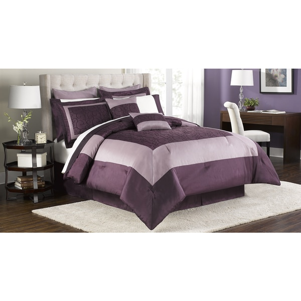 Shop Audrey Embroidered 12 Piece Bed In A Bag Set Free