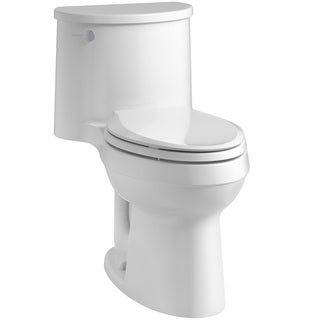Kohler Adair Comfort Height 1-piece 1.28 GPF Elongated Toilet with AquaPiston Flush Technology in White