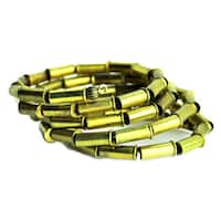 Brass Bullet Wrap Around 'Infiny' Bracelet