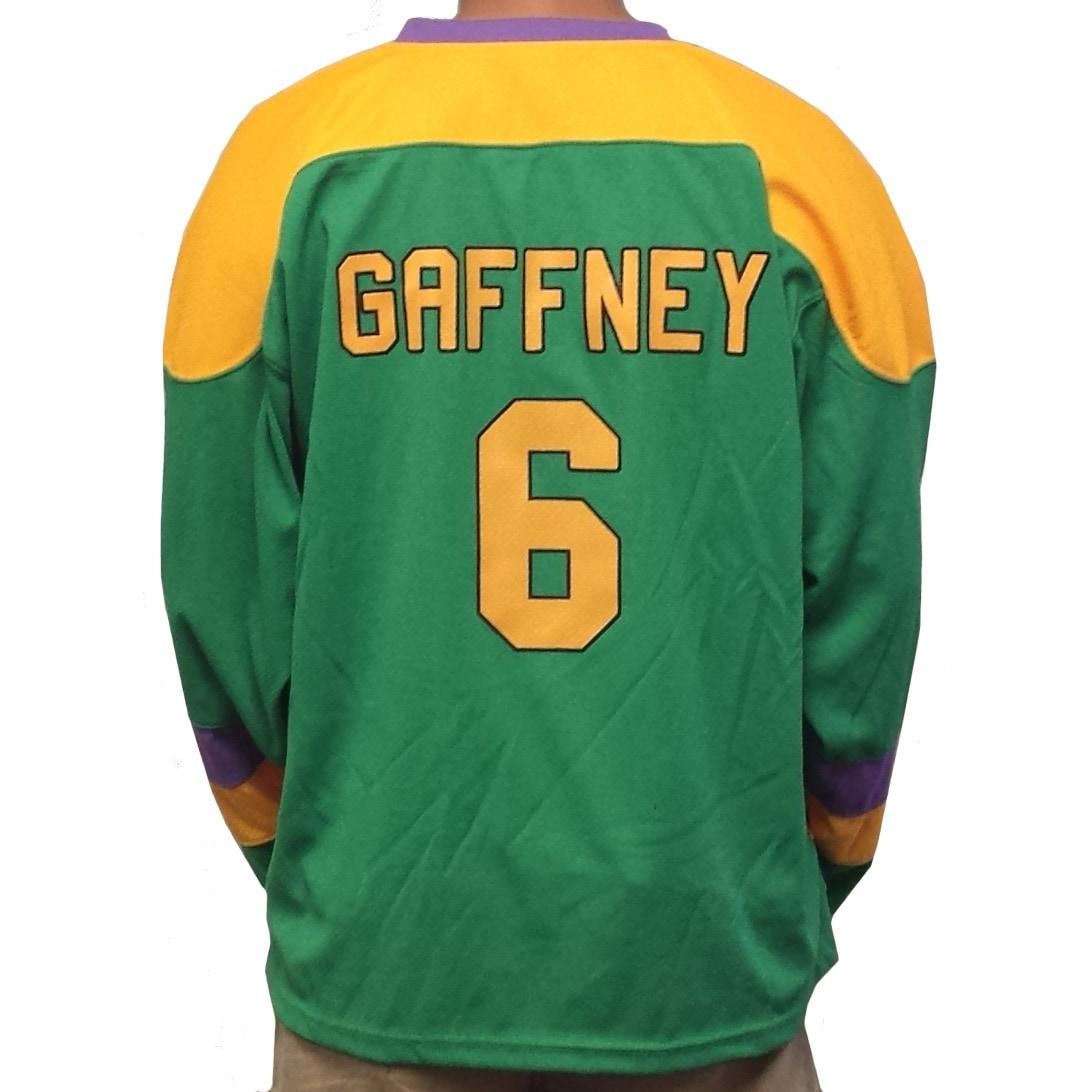new arrivals 6b91d b333e Julie The Cat Gaffney #6 Mighty Ducks Movie Hockey Jersey Goalie 90's  Costume