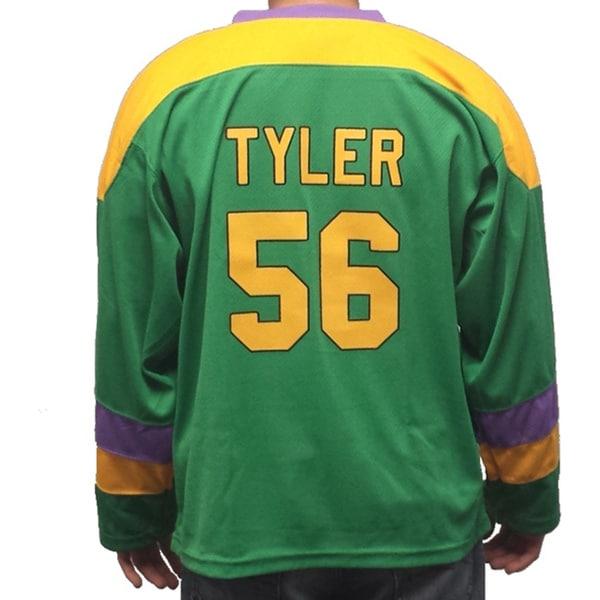 Russ Tyler #56 Mighty Ducks Movie Hockey Jersey Knuckle Puck Costume D2 Kenan
