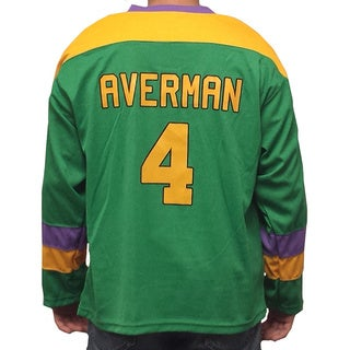 Les Averman #4 Mighty Ducks Movie Hockey Jersey 90's Costume Funny Player