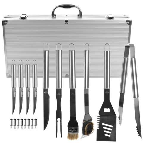 Chef Buddy Heavy Duty BBQ Set with Case 19-piece Set