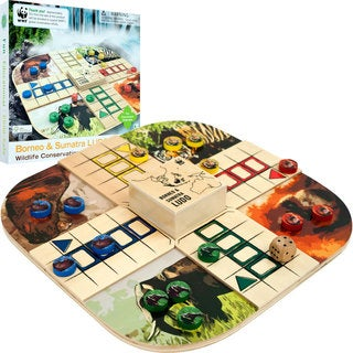Zoo Animals Wood Board Game Ludo