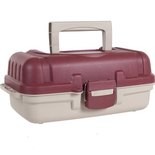 Gone Fishing Heavy Duty Two Layer Tackle Box with Secure Latch