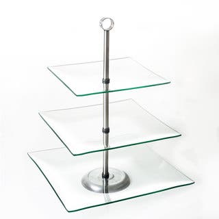 Chef Buddy Three Tier Square Glass Buffet and Dessert Stand|https://ak1.ostkcdn.com/images/products/10379285/P17484774.jpg?impolicy=medium