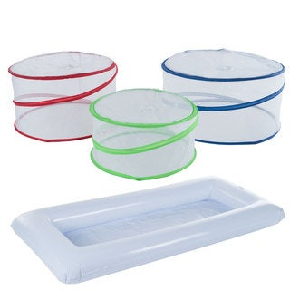 Mesh White Kitchen Food Nets Set Of